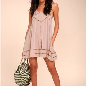 NWT Lulu's Sister Moon Embroidered Swing Dress